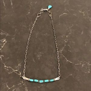 Genuine Sterling Silver Turquoise Necklace